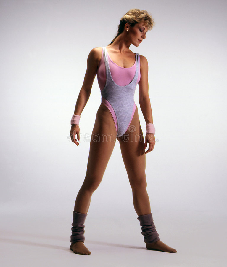 Woman in leotard royalty free stock photos