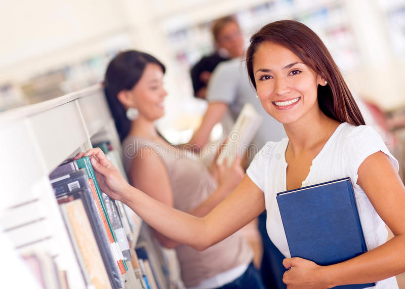 Download Woman at the library stock image. Image of people, cheerful - 27934709