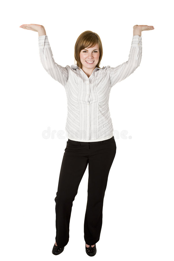 Free Woman Lifting Above Head Royalty Free Stock Images - 8241489