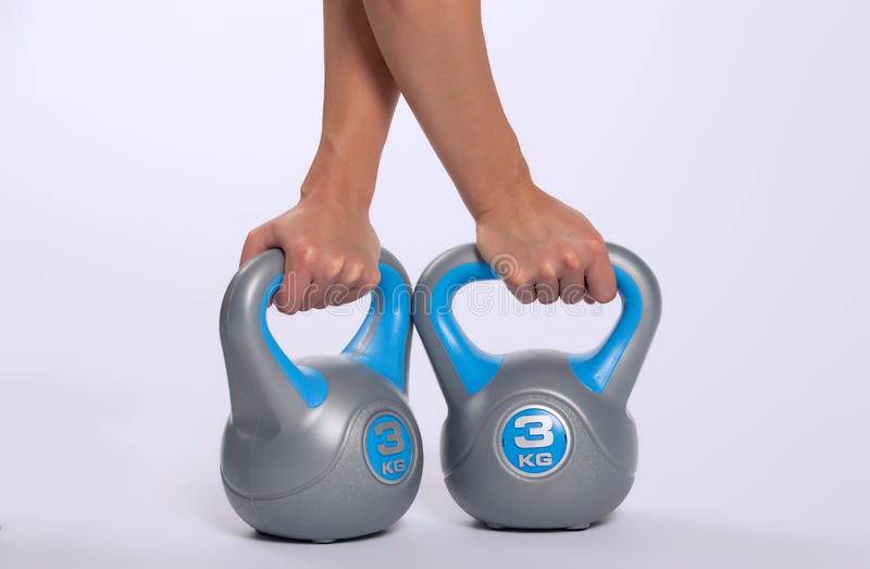 Download Woman Lifting Kettlebell Weights Stock Image - Image: 36669001