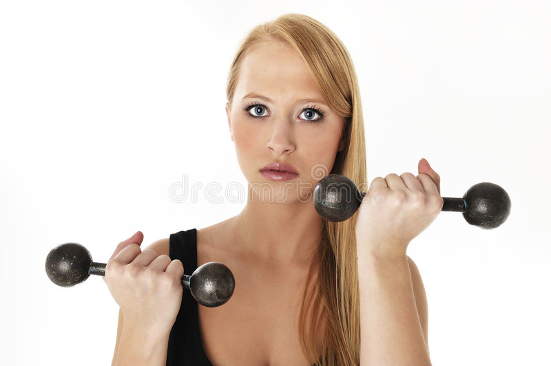 Woman lifting a weight