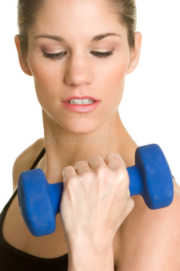 Download Woman Lifting Weights stock photo. Image of dumbells, lift - 4686178