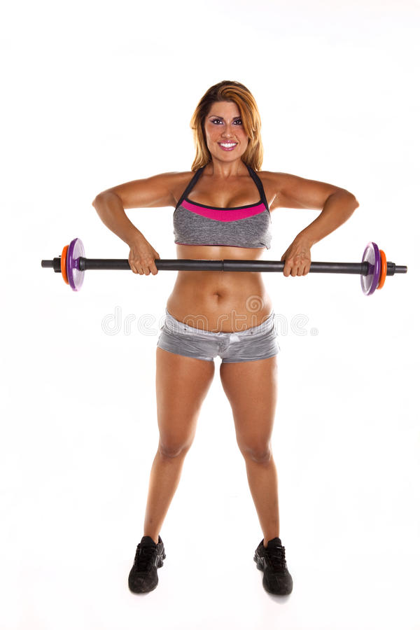 Woman Lifting Weights royalty free stock photos