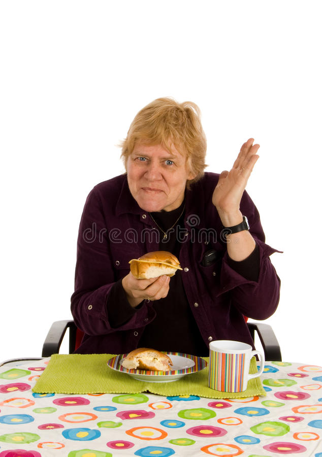 Download Woman liking her breakfast stock photo. Image of happy - 9372484
