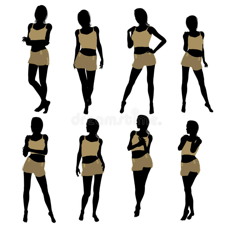 Download Woman Lingerie Silhouette stock illustration. Image of underwear - 16174498