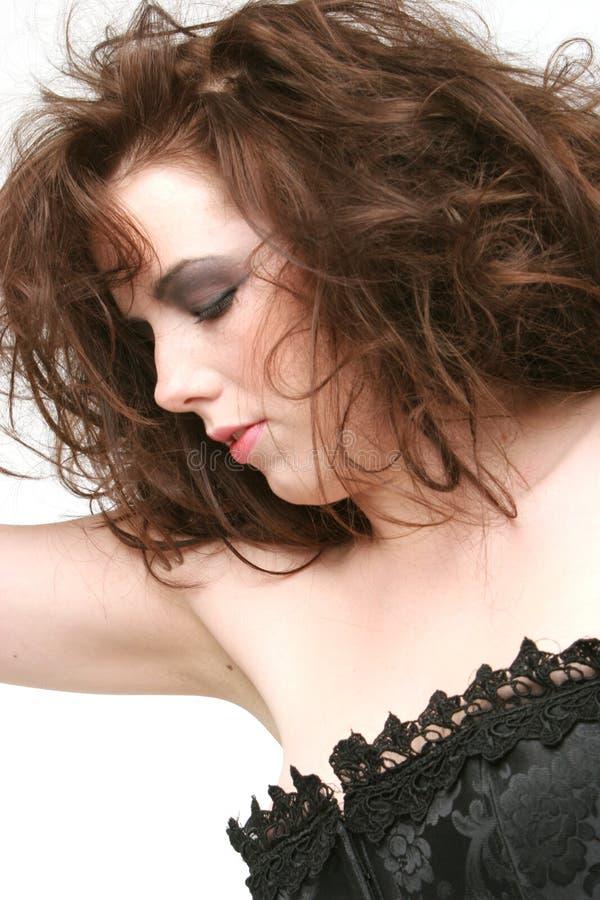 Woman In Lingerie Sleeping Stock Photos