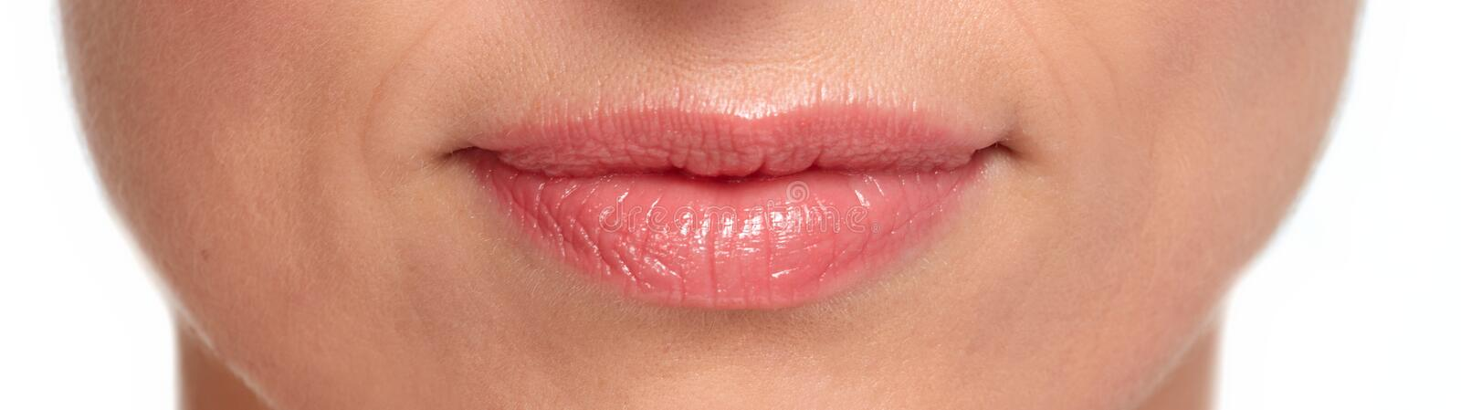 Woman lips royalty free stock images