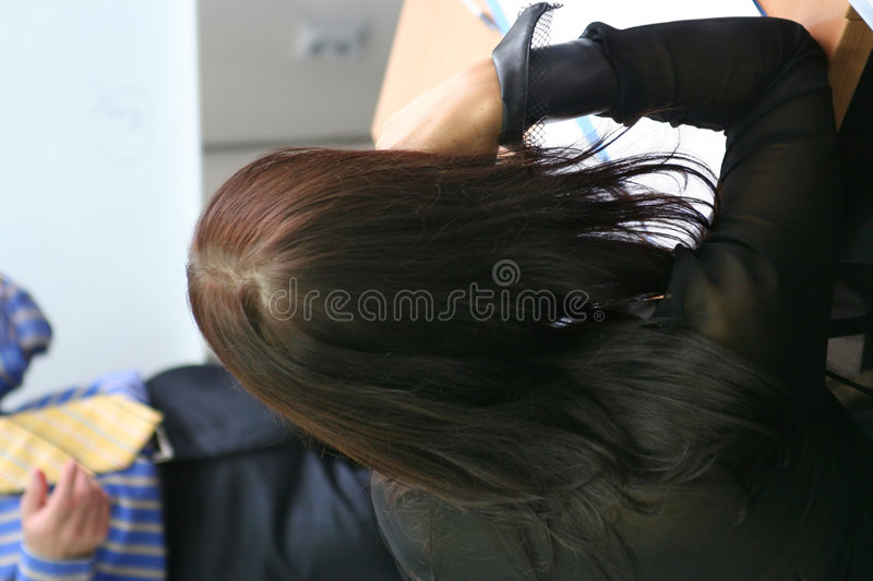 Woman listen to a teacher at seminar royalty free stock images