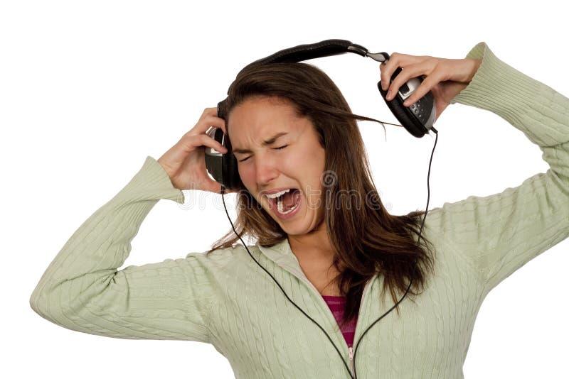Download Woman listening loud music stock image. Image of human - 10886831