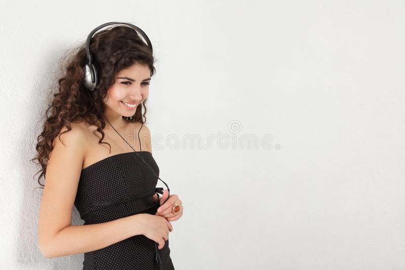 Download Woman listening music stock image. Image of human, smiling - 22386399