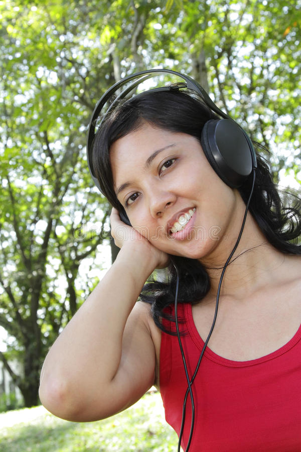 Download Woman listening to music stock image. Image of leisure - 16701401