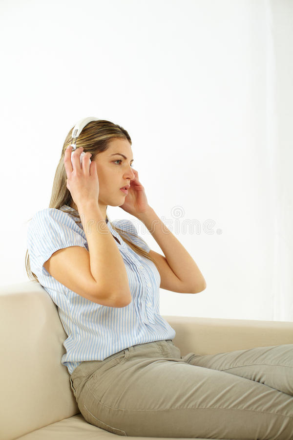 Download Woman listening to music stock photo. Image of female - 23828392
