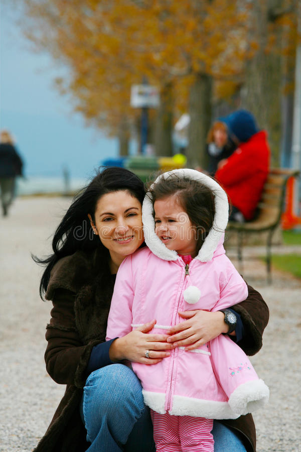 Woman with a little girl royalty free stock photo
