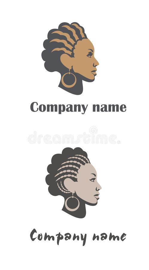 Woman Logo For Hair Or Beauty Salon Royalty Free Stock Image