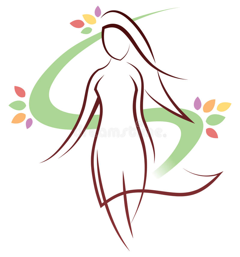 Download Woman Logo stock vector. Image of modelling, catwalk - 34966091