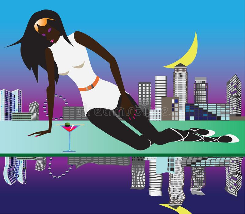 Download Woman in London stock vector. Illustration of lifestyles - 9655600