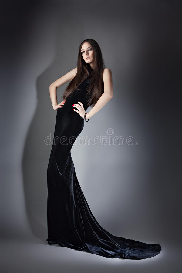 Woman in long dress royalty free stock photography