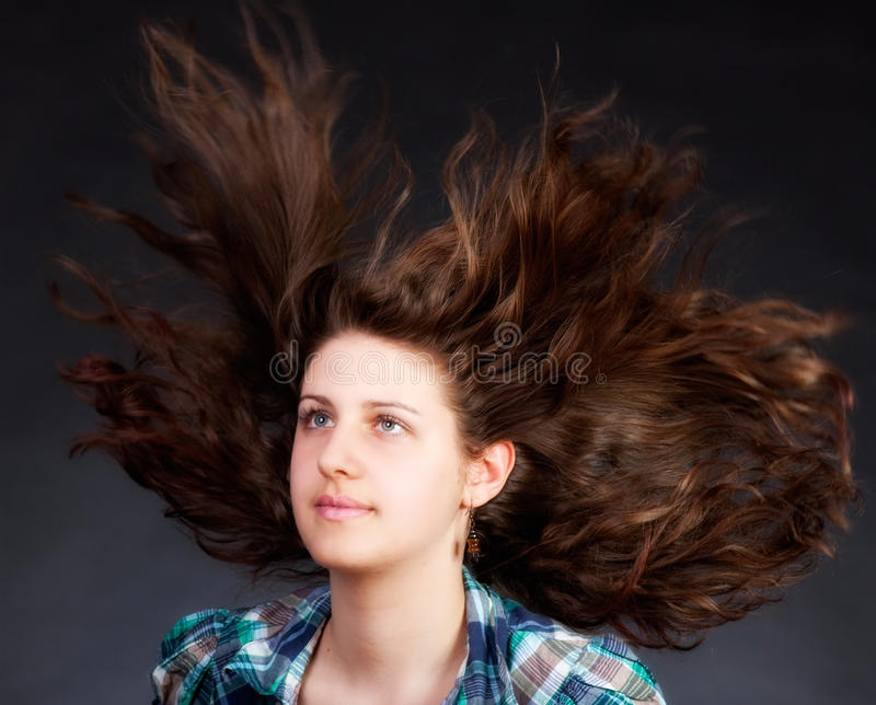 Download Woman With Long Flying Hair Stock Photography - Image: 19554152