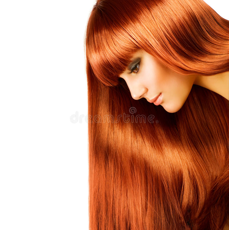 Woman with Long Hair royalty free stock image