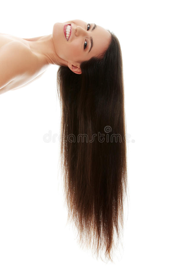 Woman with long hairs royalty free stock images