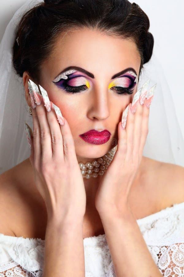 Woman long nails stock image. Image of natural, model - 106604147