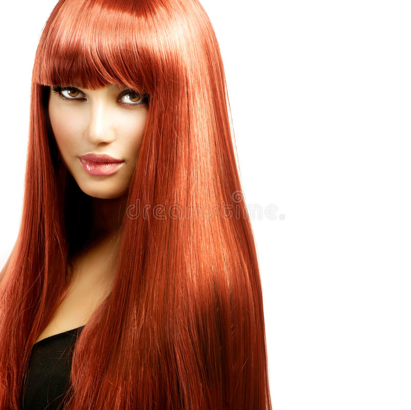 Woman with Long Red Hair stock image. Image of haircare - 34751687
