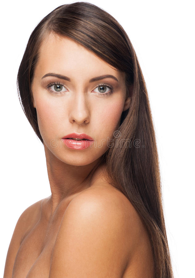 Woman With Long Straight Hair Royalty Free Stock Photo