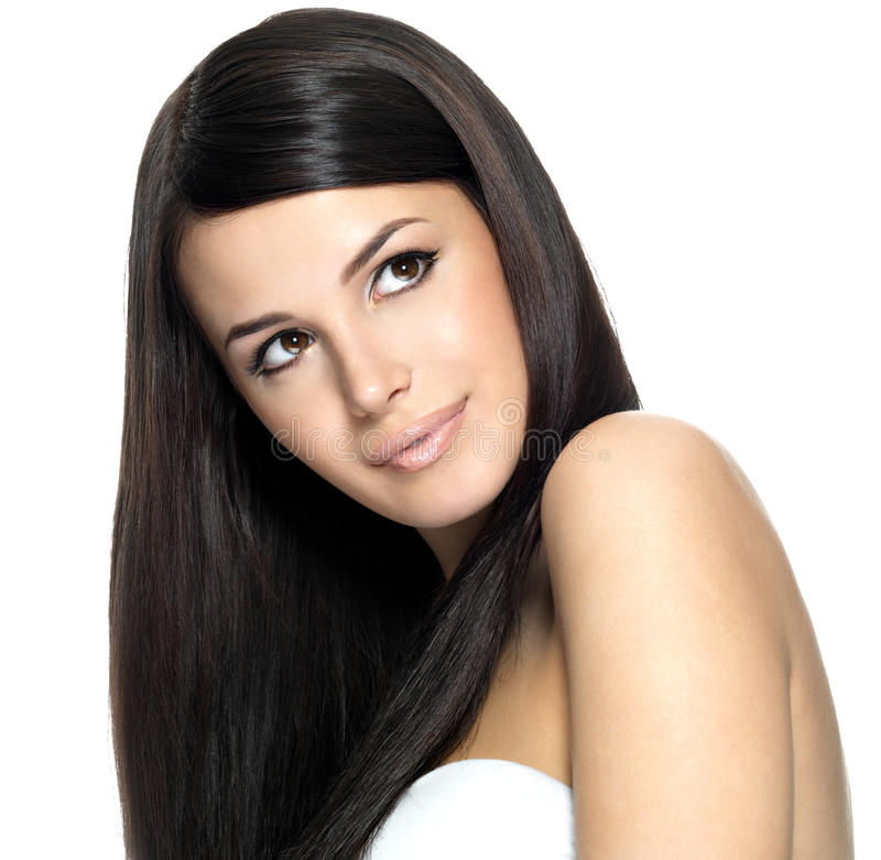 Download Woman With Long Straight Hair Stock Photo - Image: 29525132