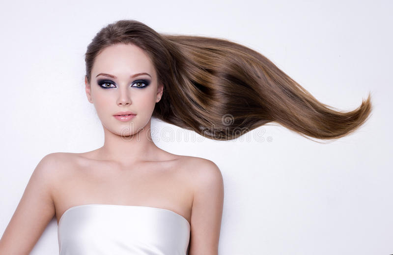 Download Woman With Long Straight Smooth Hair Stock Photo - Image: 23285974