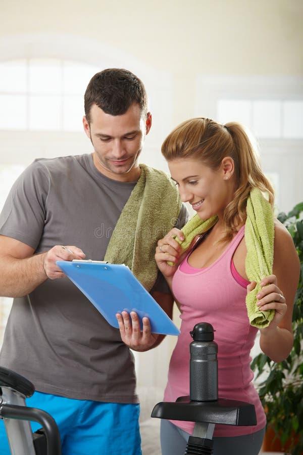 Free Woman Looking At Training Plan Stock Image - 12395791