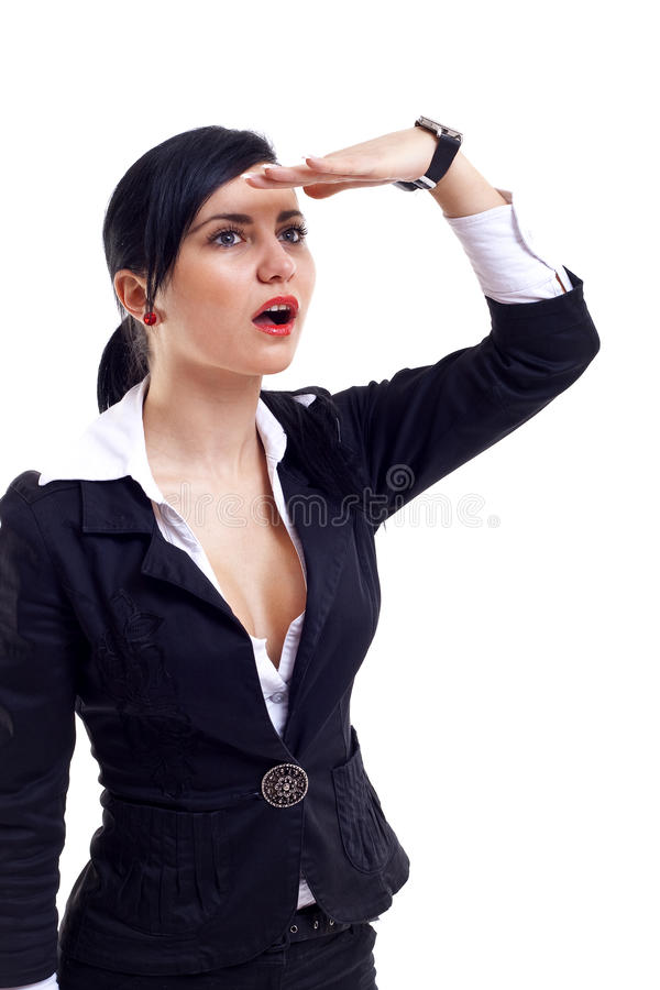 Download Woman looking away stock image. Image of copyspace, life - 14064987