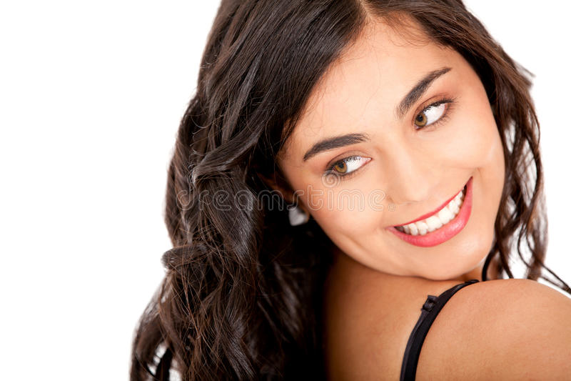 Download Woman looking back stock image. Image of hispanic, person - 18252163