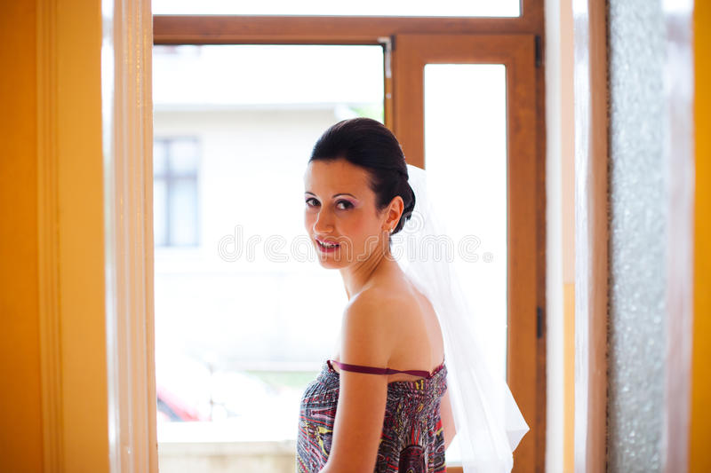 Woman Looking Back Royalty Free Stock Images
