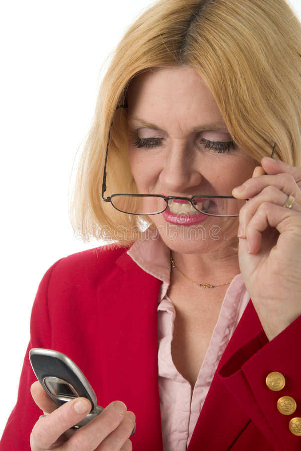 Download Woman Looking At Cellphone 2 Stock Images - Image: 1960584