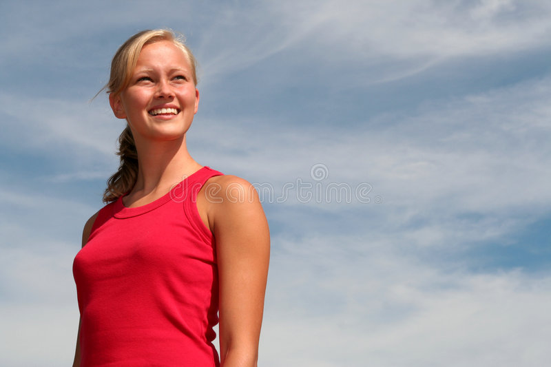 Download Woman Looking Into The Distance Royalty Free Stock Photography - Image: 1029977
