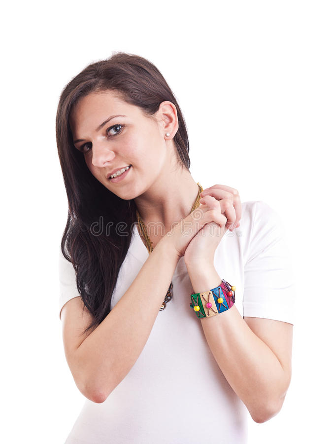 Woman Looking Happy Royalty Free Stock Image
