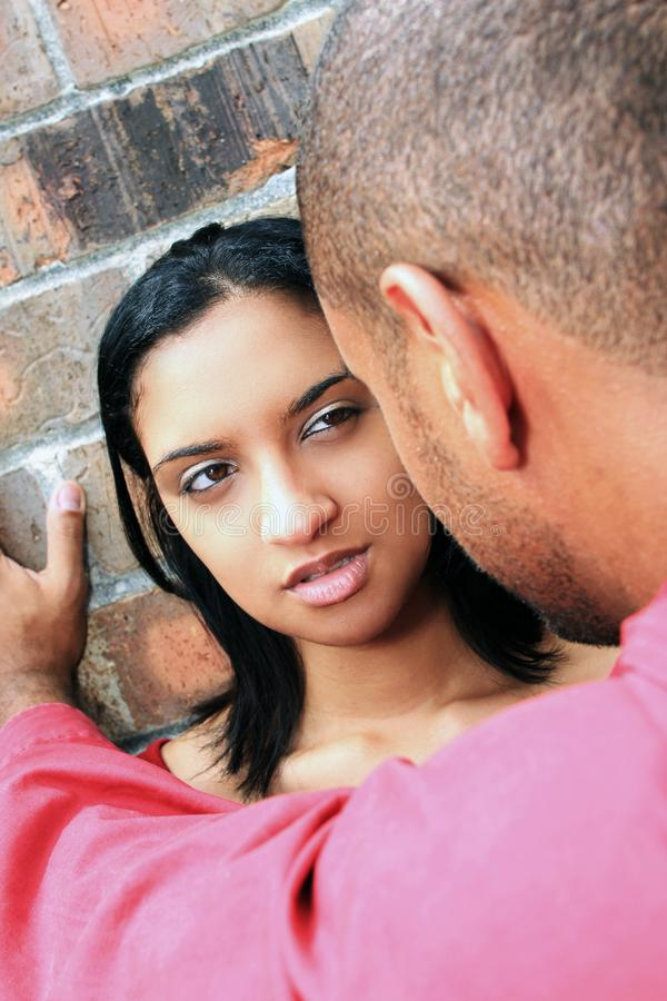 Woman looking at Man royalty free stock photography