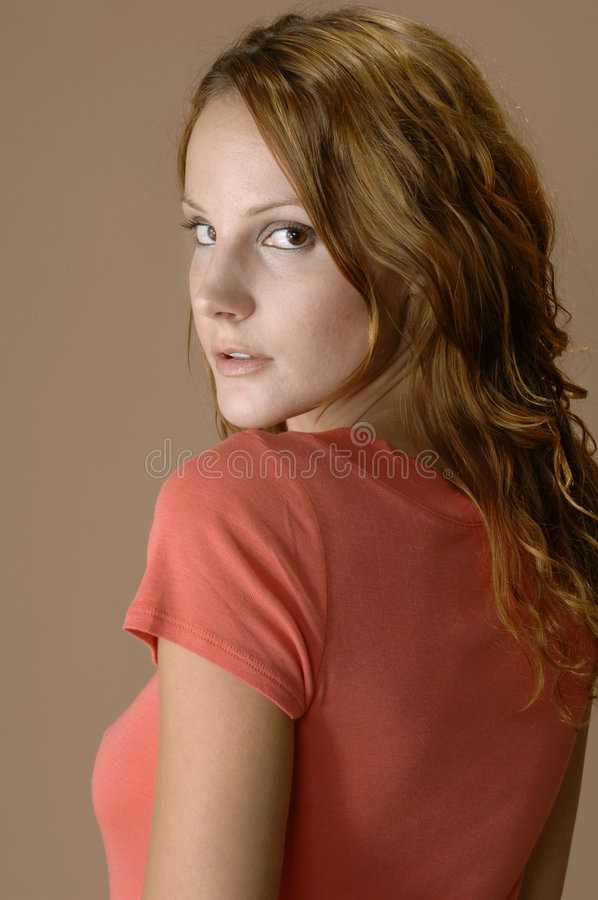 Download Woman Looking Over Her Shoulder Stock Images - Image: 3586684