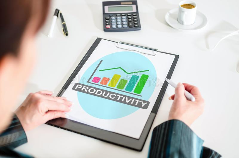 Productivity concept on a clipboard royalty free stock photo