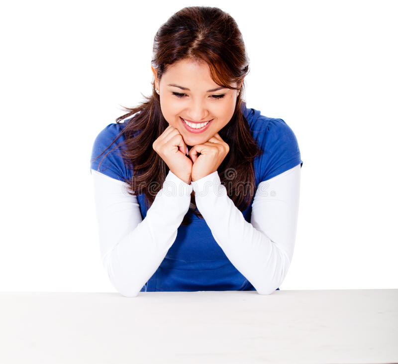 Download Woman looking at the table stock image. Image of attractive - 24499007