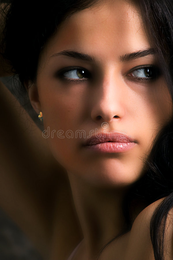 Download Woman looking to her side stock photo. Image of staring - 3215904
