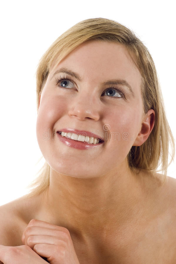 Download Woman Looking Up stock image. Image of clean, look, cosmetics - 13512461