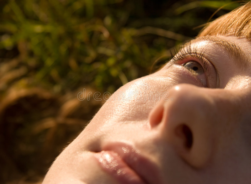 Download Woman Looking Up To The Sky Stock Photography - Image: 3434572