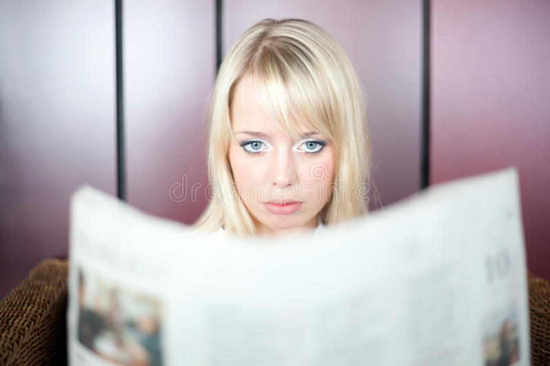 Download Woman looks shocked stock image. Image of news, blond - 21532899