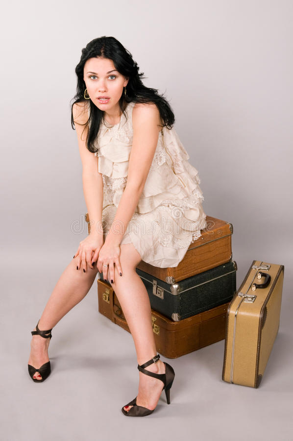 Download Woman And Luggage. Stock Photo - Image: 13534200