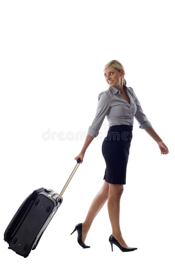Download Woman with Luggage stock image. Image of formal, boss - 15502099