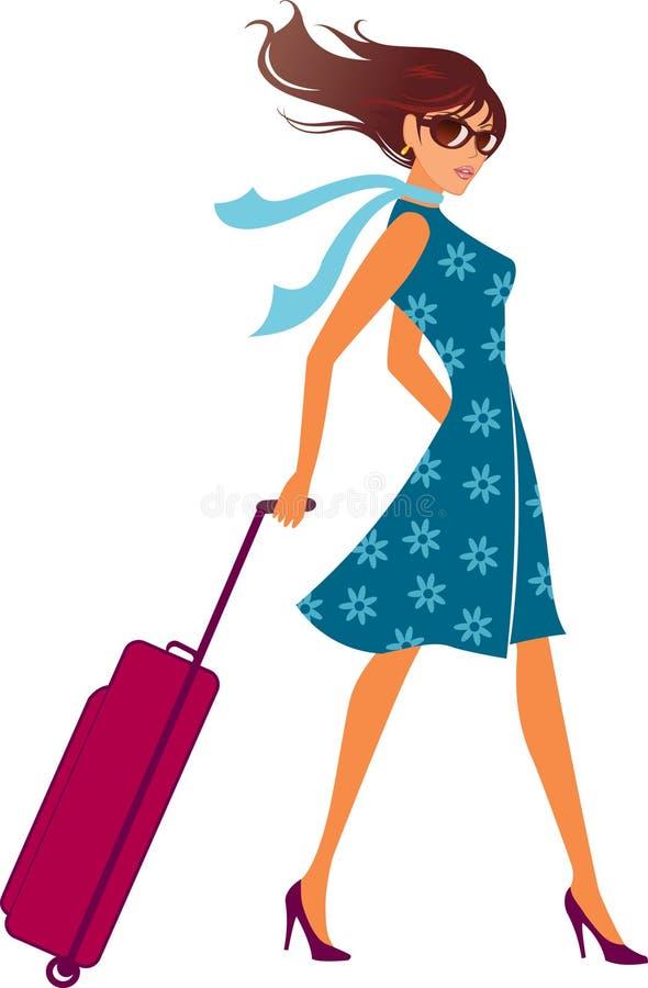 Download Woman With A Luggage Bag. Baggage Bag. Stock Vector - Image: 20753609
