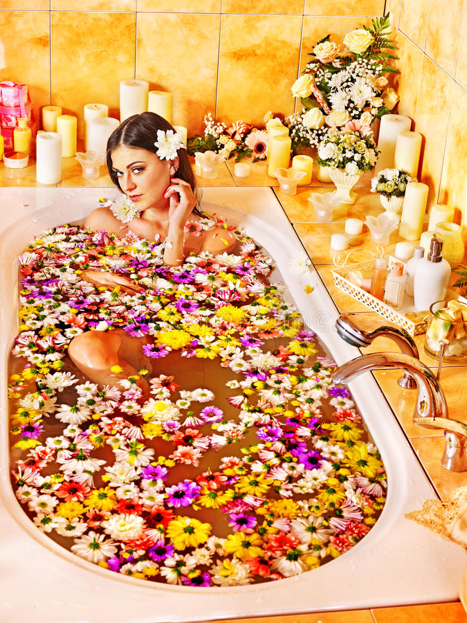 Download Woman at luxury spa. stock photo. Image of lying, home - 28696486
