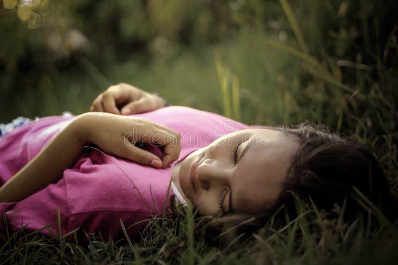 Woman Lying On Green Grass Free Public Domain Cc0 Image