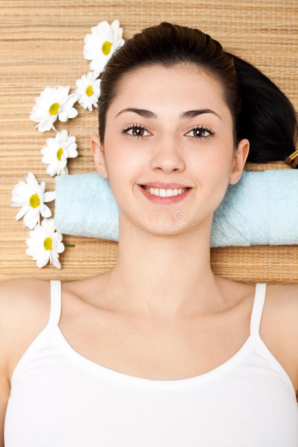 Download Woman Lying On A Massage Table Stock Photos - Image: 18827533